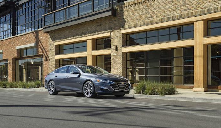 """<p><a href=""""https://www.caranddriver.com/chevrolet/malibu"""" rel=""""nofollow noopener"""" target=""""_blank"""" data-ylk=""""slk:The 2019 Chevrolet Malibu Hybrid"""" class=""""link rapid-noclick-resp"""">The 2019 Chevrolet Malibu Hybrid</a> gets a new exterior look this year; the rest of this mid-size hybrid sedan remains the same, however. That means up to 46 mpg in combined driving, attractive exterior styling, and a spacious yet unremarkable cabin.<br></p>"""