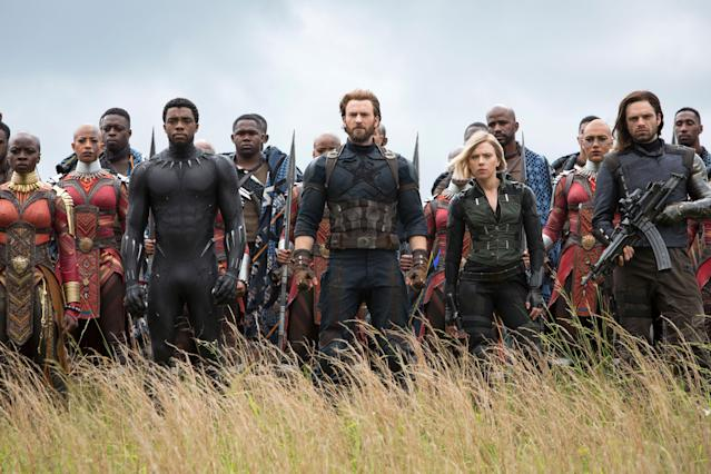 The Avengers assemble in <em>Avengers: Infinity Wa</em>r, one of the year's biggest box-office winners so far. (Photo: Chuck Zlotnick/Marvel/Walt Disney Studios Motion Pictures/Courtesy of Everett Collection)