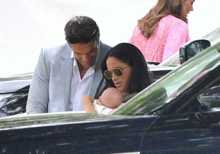 <p>Meghan and baby Archie arrive at the Billingbear Polo Club in Berkshire to cheer on Prince Harry as he plays in a charity match with his brother Prince William.</p>