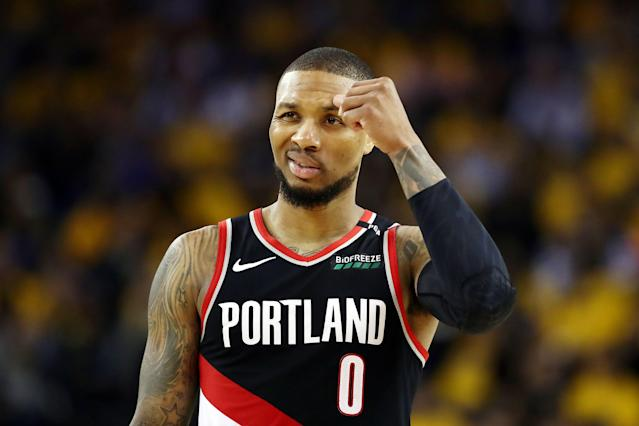 Damian Lillard couldn't find much room to operate on Tuesday. (Getty)