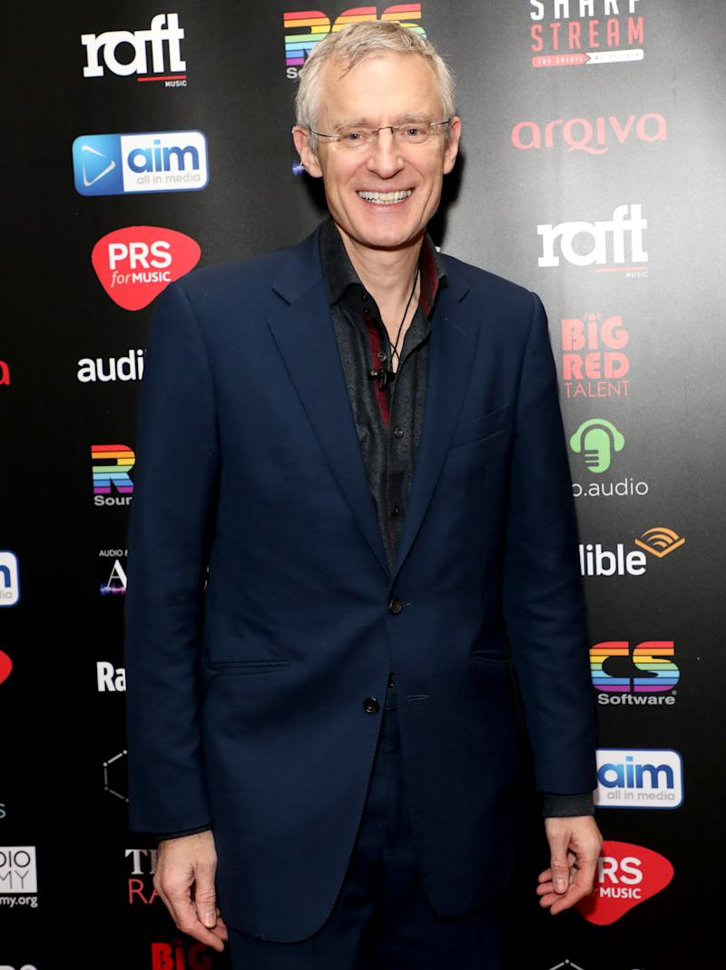 Jeremy Vine attending The Audio and Radio Industry Awards held at The London Palladium, London.