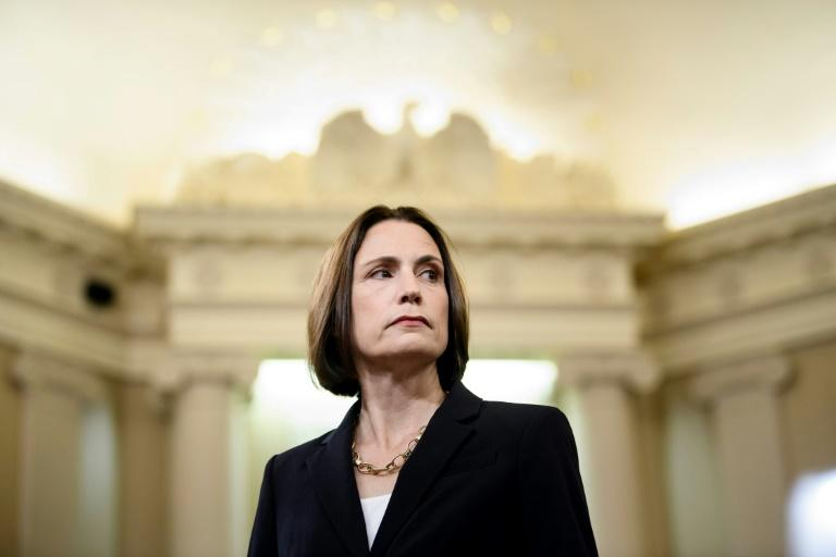 Fiona Hill, a former White House expert on Russia, warned that Russia propagated the Ukraine conspiracy theories that US President Donald Trump embraces (AFP Photo/Brendan Smialowski)