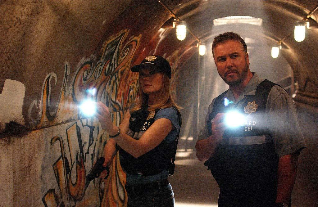 """Catherine and Grissom explore an underground bunker used by cult members for a mass suicide. (""""Shooting Stars""""  10/13/2005, Season 6)"""