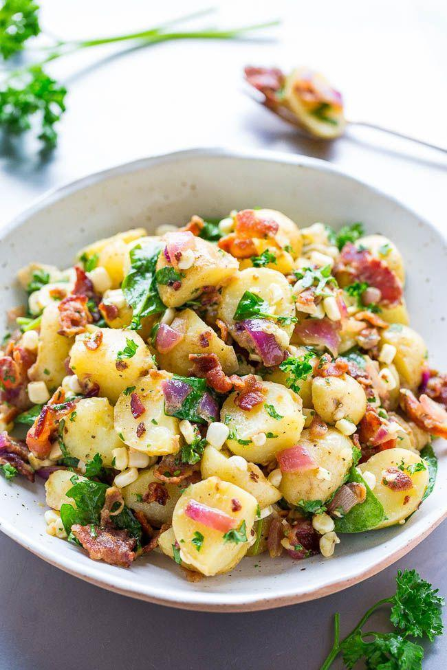"<p>Upgrade your traditional <a href=""https://www.countryliving.com/food-drinks/g1428/potato-salad-recipes/"" rel=""nofollow noopener"" target=""_blank"" data-ylk=""slk:potato salad recipe"" class=""link rapid-noclick-resp"">potato salad recipe</a> with red wine vinegar, Dijon mustard, and plenty of bacon.</p><p><strong>Get the recipe at <a href=""https://www.averiecooks.com/bacon-potato-salad/"" rel=""nofollow noopener"" target=""_blank"" data-ylk=""slk:Averie Cooks"" class=""link rapid-noclick-resp"">Averie Cooks</a>.</strong></p>"