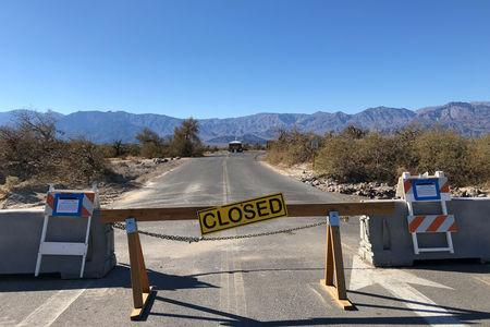 Furnace Creek Campground at Death Valley National Park is closed during the partial U.S. government shutdown, in Death Valley, California, U.S., January 10, 2019.   REUTERS/Jane Ross