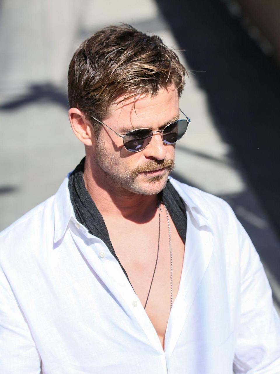 <p>This Hollywood star has a knack for making every look seem effortless — short or long hair, full beard or clean shaven. It's no wonder that a mustache looks right at home on his chiseled face. </p>