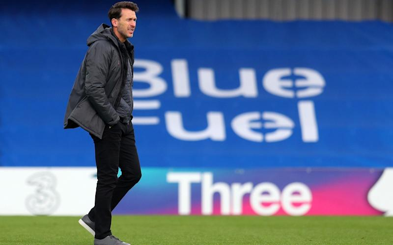 Gareth Taylor manager of Manchester City during the Barclays FA Women's Super League match between Chelsea Women and Manchester City Women at Kingsmeadow on October 11, 2020 in Kingston upon Thames, England.  - GETTY IMAGES