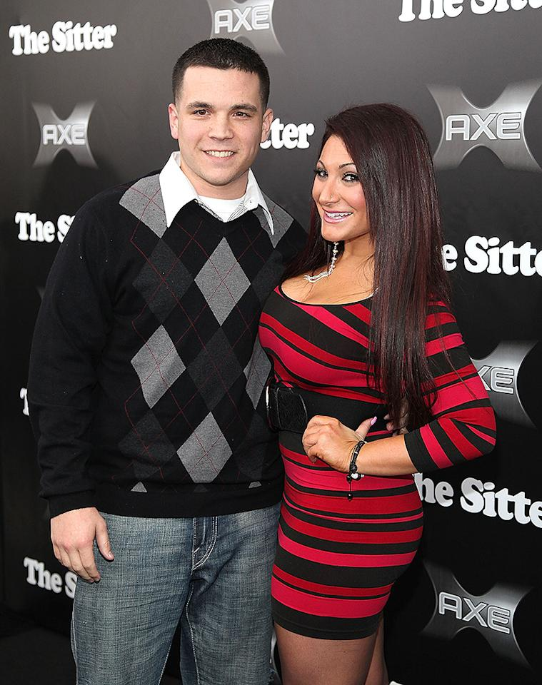 "NEW YORK, NY - DECEMBER 06:  Chris Buckner and Deena Cortese attend ""The Sitter"" premiere at Chelsea Clearview Cinemas on December 6, 2011 in New York City.  (Photo by Taylor Hill/FilmMagic)"