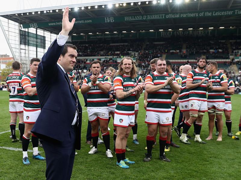 Marcos Ayerza says his farewell to the Leicester crowd (Getty)