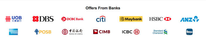 GET.com has partnerships with about six banks in Singapore.
