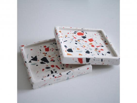 Start small with this set of coasters if you're new to the trend (Terrazzo Palazzo)