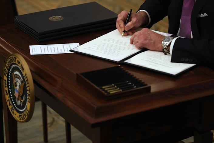 <p>Why everyone is talking about new president's watch</p> (Alex Wong/Getty Images)