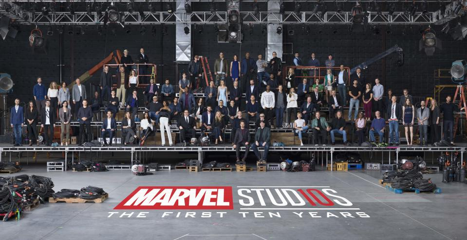 See practically every Marvel star ever come together for MCU's 10th anniversary