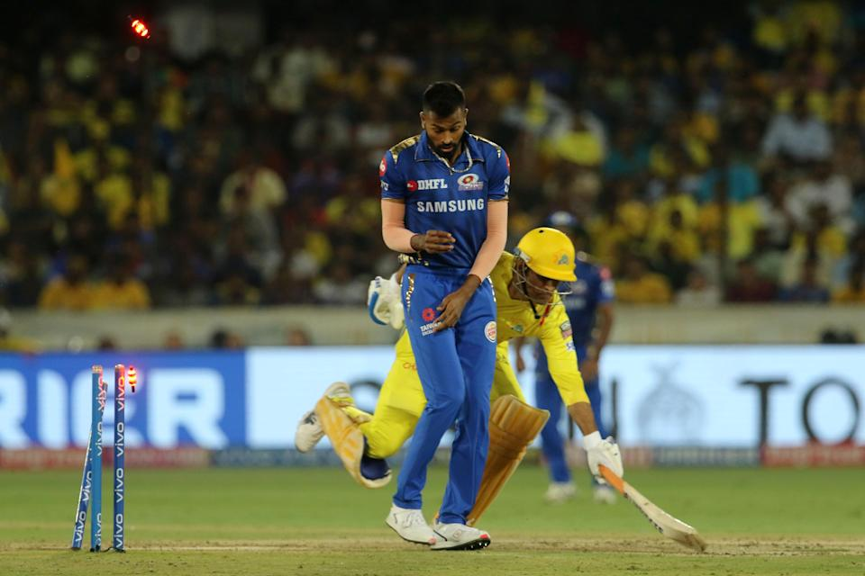 MS Dhoni was run out on 2 in the 2019 IPL final.