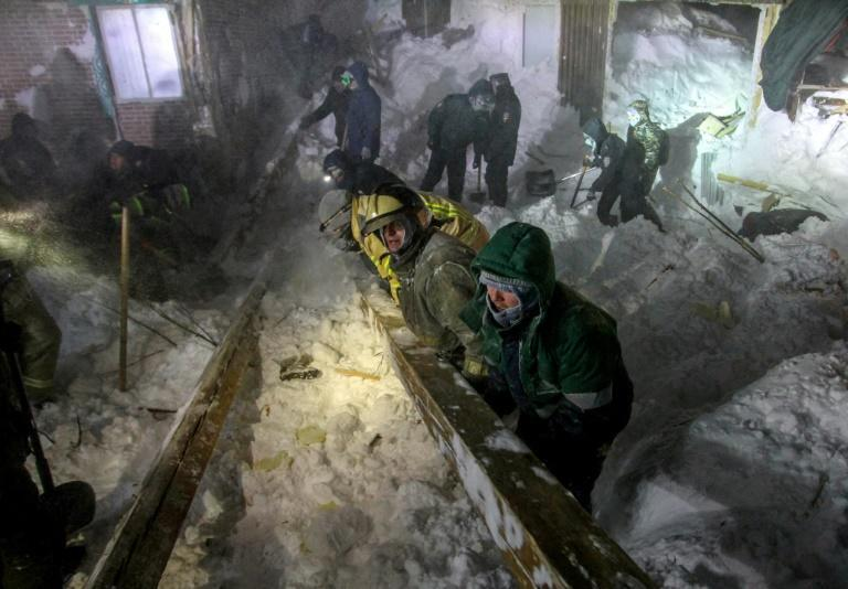 The avalanche buried four buildings under snow at a ski complex in the Arctic town of Talnakh, 25 kilometres (16 miles) north of Norilsk