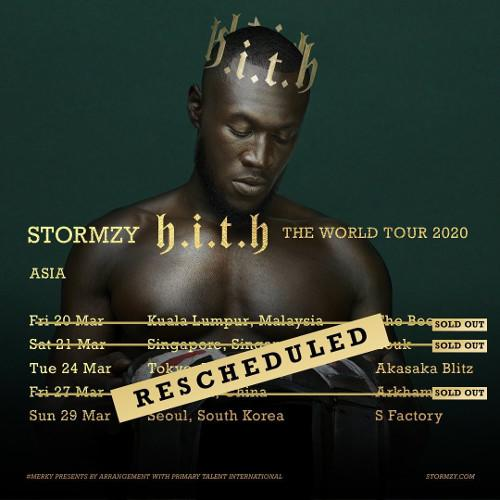 Stormzy posted on Instagram about his Asia tour's postponement.