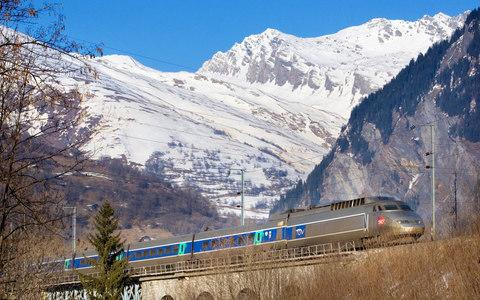 An SNCF train makes it way through the Alps - Credit: SNCF