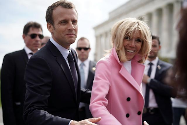 The Macrons will attend a state dinner with the Trumps. (Photo: Getty Images)