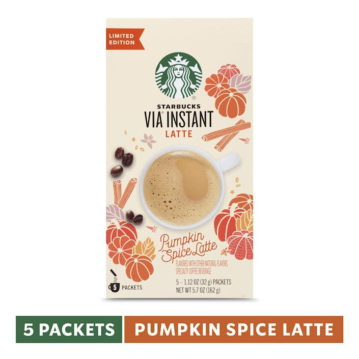 """<p><strong>Starbucks</strong></p><p>walmart.com</p><p><strong>$14.95</strong></p><p><a href=""""https://go.redirectingat.com?id=74968X1596630&url=https%3A%2F%2Fwww.walmart.com%2Fip%2F164068821&sref=https%3A%2F%2Fwww.delish.com%2Ffood-news%2Fg22727687%2Ffall-foods-drinks-flavors%2F"""" rel=""""nofollow noopener"""" target=""""_blank"""" data-ylk=""""slk:Shop Now"""" class=""""link rapid-noclick-resp"""">Shop Now</a></p><p>Make your fave drink from the comfort of home. </p>"""