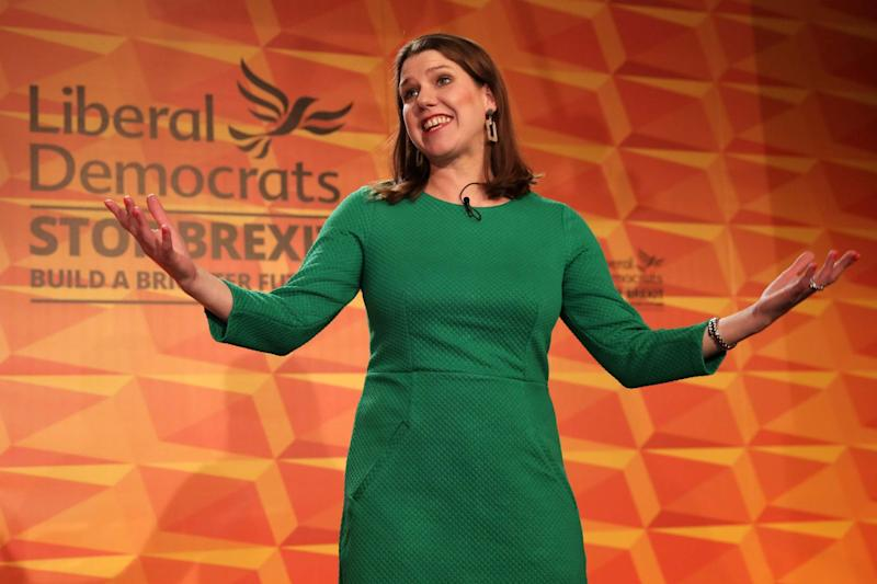 Liberal Democrats leader Jo Swinson launches the Liberal Democrat election manifesto (Getty Images)