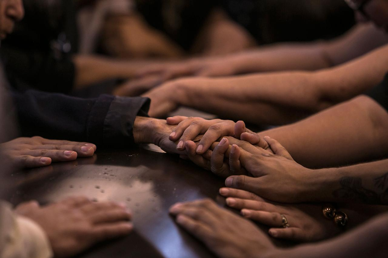 <p>Friends and relatives say their last goodbyes during the funeral mass of slain journalist Javier Valdez, in Culiacan Mexico, Tuesday, May 16 2017. (AP Photo/Rashide Frias) </p>