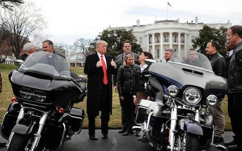 <span>Donald Trump invited Harley-Davidson executives to the White House in February 2017, and was infuriated when they moved some production to Europe</span>