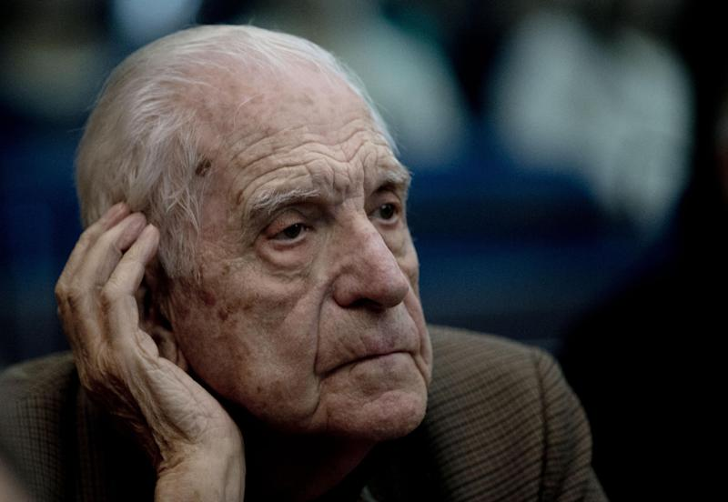 "Former dictator Reynaldo Bignone attends the first day of the trial for his alleged involvement in the so called operation, ""Plan Condor,"" in Buenos Aires, Argentina, Tuesday, March 5, 2013. Argentina began today its first human rights trial focused on the joint operation by the southern cone's 1970s dictatorships to track down leftists in each other's countries. Bignone has already been sentenced to life imprisonment for crimes against humanity. (AP Photo/Natacha Pisarenko)"