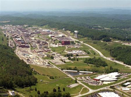 Handout photo of an aerial view of the Y-12 Plant in Oak Ridge