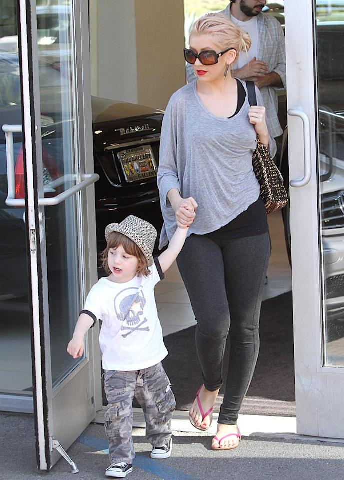 """Despite their recent split after five years of marriage, Christina Aguilera and Jordan Bratman's priority is their 2-year-old son Max. Aguilera released a statement to the press saying, """"Although Jordan and I are separated, our commitment to our son Max remains as strong as ever."""" KMM-ICE-BB/<a href=""""http://www.x17online.com"""" target=""""new"""">X17 Online</a> - July 31, 2010"""
