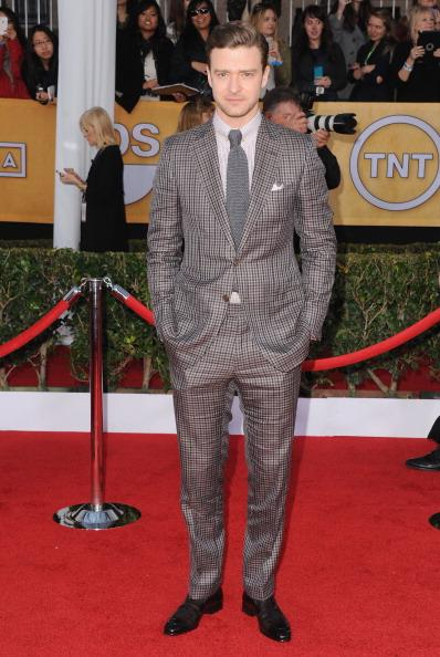 Actor/Singer Justin Timberlake arrives at the 19th Annual Screen Actors Guild Awards at The Shrine Auditorium on January 27, 2013 in Los Angeles, California.