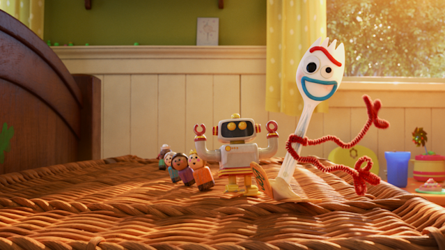 A still from new Disney+ show <i>Forky Asks A Question</i>. (Disney)