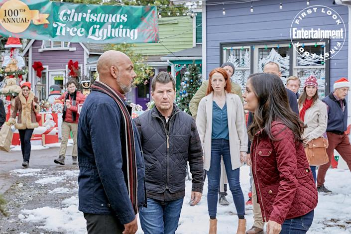 """<p><strong>Premieres:</strong> Oct. 22, 8 p.m. ET/PT, Hallmark Channel</p> <p><strong>Stars:</strong> Danica McKellar, Benjamin Ayres, Jason Hervey</p> <p><strong>Contains:</strong> Dendrology, <em>Wonder Years</em> reunion</p> <p><strong>Official description</strong>: """"Olivia is Connecticut's resident expert on evergreens who, just days before the holiday, agrees to help Jack, a fourth generation Christmas tree farmer in Avon. A mysterious illness has befallen their firs, causing them to die out and threatening his family's 100-year business. As Olivia tries to get to the root of the problem and extends her stay in town, she and Jack spend more time together and feelings begin to develop.""""</p>"""