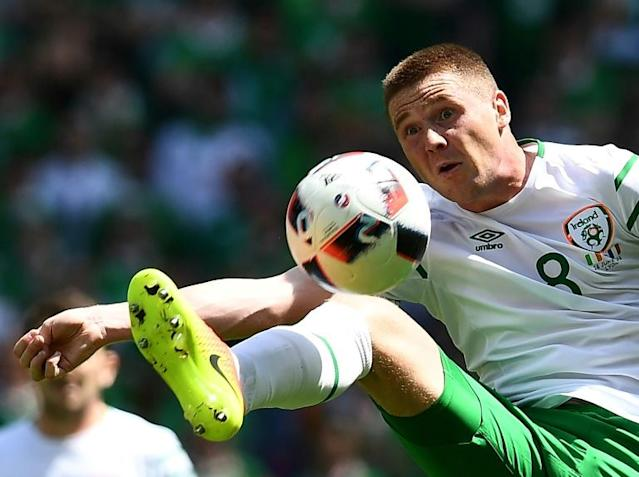 Ireland's James McCarthy in action during a Euro 2016 match against France near Lyon (AFP Photo/FRANCK FIFE)