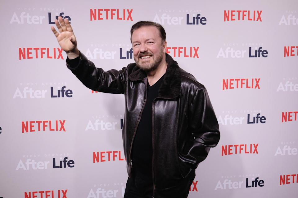 Comedian Ricky Gervais attends the 'After Life' For Your Consideration Event at Paley Center For Media on March 07, 2019 in New York City. (Photo by Nicholas Hunt/Getty Images)