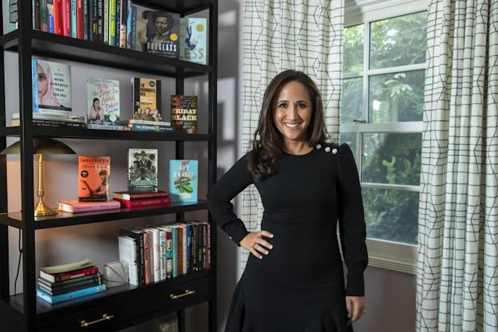 """Michelle Weiner, head of Creative Artists Agency's books department, at her home in Los Angeles. <span class=""""copyright"""">(Brian van der Brug/Los Angeles Times)</span>"""