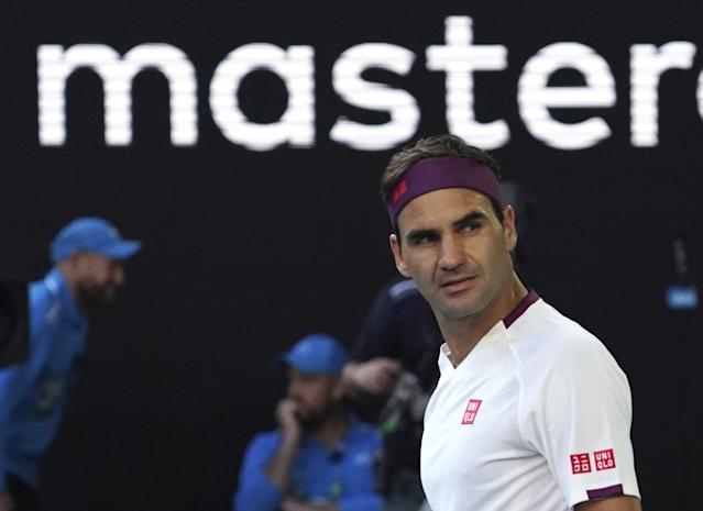 """Roger Federer, shown during the Australian Open in January, had more than $100 million in earnings through endorsements and appearance fees in the last year. <span class=""""copyright"""">(Lee Jin-man / Associated Press)</span>"""