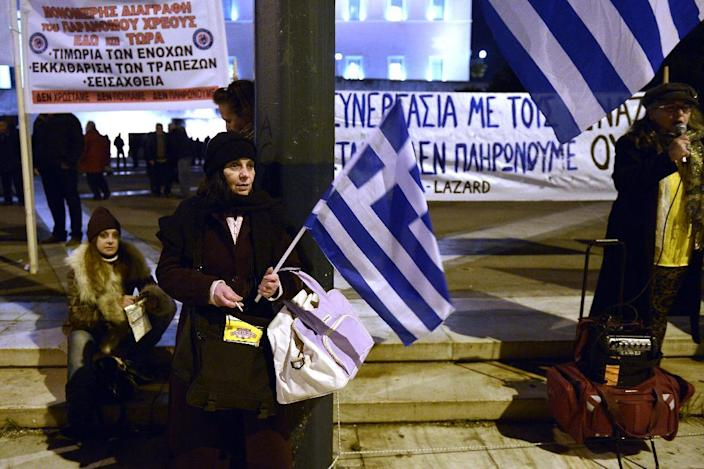 Greece has refused to continue with a programme it says has wrung its citizens dry, creating abject poverty and sky-high unemployment (AFP Photo/Louisa Gouliamaki)