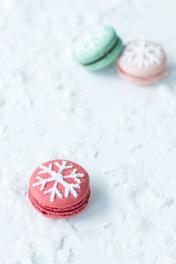 "<p>These adorable cookies would look delightful on the dessert table or wrapped in cellophane and given out as favors. </p><p><strong>See more at <a href=""https://studiodiy.com/snowflake-stenciled-macarons/"" rel=""nofollow noopener"" target=""_blank"" data-ylk=""slk:Studio DIY."" class=""link rapid-noclick-resp"">Studio DIY.</a></strong></p>"