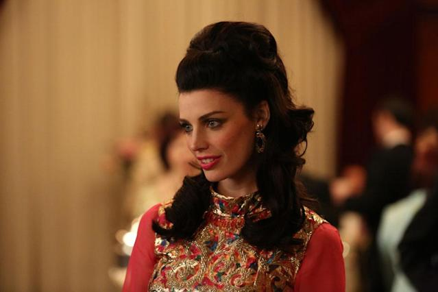 "Megan Draper (Jessica Pare) in the ""Mad Men"" episode, ""The Flood."""