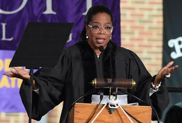 Oprah Winfrey supports education and many other causes. (Photo: Rick Diamond/Getty Images)