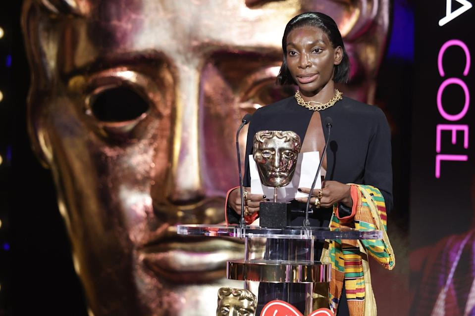EXCLUSIVEMandatory Credit: Photo by Guy Levy/Shutterstock for BAFTA (12021062ih)Leading Actress - Michaela Coel - I May Destroy YouEXCLUSIVE - Virgin Media British Academy Television Awards, Ceremony, London, UK - 06 Jun 2021