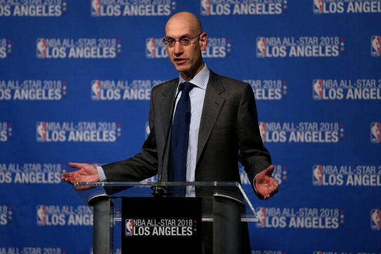 The new deal could potentially help Adam Silver deliver labor peace through the 2023-24 season. (Getty Images)