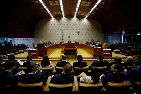 General view of a session of the Supreme Court in Brasilia