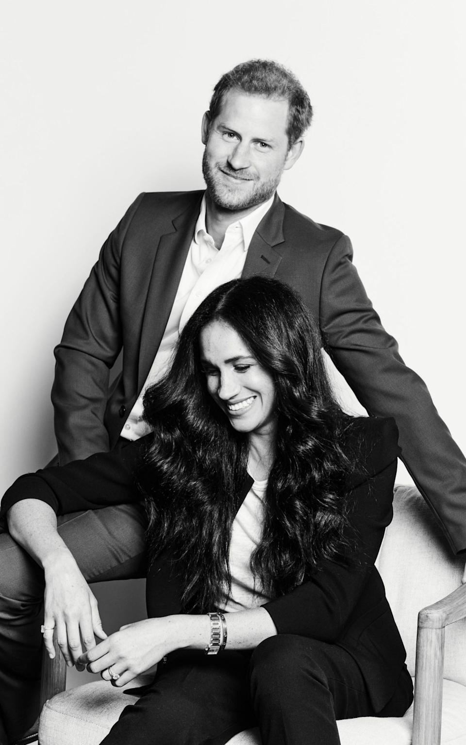 The Duke and Duchess of Sussex, photographed by Matt Sayles for Time100 - PA