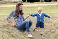 <p>The tot attended a charity polo match with his mother in Tetbury in June 2015.</p>