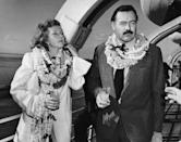 """<p>Martha Gellhorn became Hemingway's third wife <a href=""""https://www.biography.com/news/ernest-hemingway-wives"""" rel=""""nofollow noopener"""" target=""""_blank"""" data-ylk=""""slk:only 16 days after"""" class=""""link rapid-noclick-resp"""">only 16 days after</a> the author's divorce from Pfeiffer was finalized. However, as Gellhorn continued to work as a war correspondent, the couple's marriage suffered. They divorced in 1945 and the union was the shortest of all of Hemingway's marriages.</p>"""
