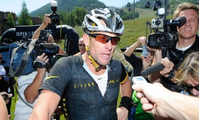 Lance Armstrong: After finishing the Power of Four Mountain Bike Racein Colorado, Aug. 25, 2012.