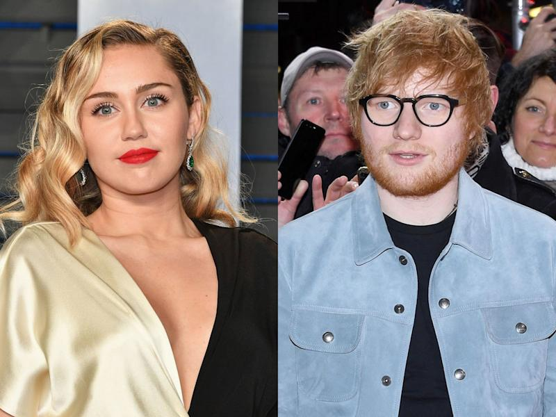 miley cyrus ed sheeran