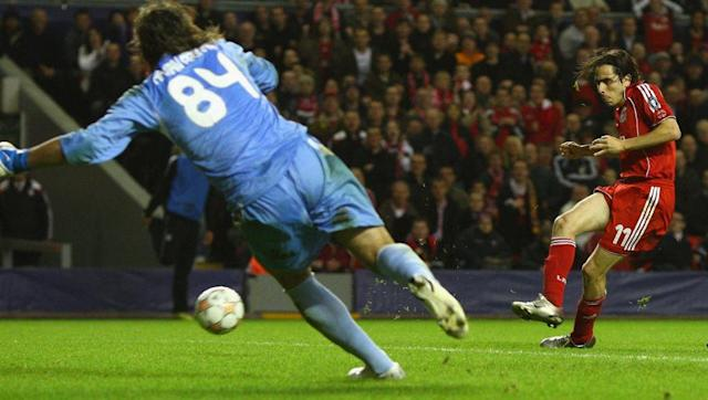 <p>Despite being regarded as a playmaker due to his skill yet diminutive size, Yossi Benayoun actually scored a hat-trick of hat-tricks for Liverpool. His first for the Reds was arguably the most surprising one however. A must win for Liverpool against Besiktas, it was already 1-0 when the Israeli superbly controlled Andriy Voronin's cross and smashed in the second.</p> <br><p>After half time, he was in the right place at the right time to tuck home the third from a rebound, and it was deja vu soon after when he latched onto another rebound from a free kick to complete a brilliant treble, something he would go on do twice more in games against Havant & Waterlooville and Burnley respectively. Add two assists to his performance as well, really quite the night for Benayoun.</p>