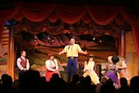 """<p>Dinner and a show! Take your family for a good meal in front of a live performance that's sure to make for a night none of you forget.</p> <ul> <li><a href=""""https://disneyworld.disney.go.com/dining/polynesian-resort/disney-spirit-of-aloha-dinner-show/"""" class=""""link rapid-noclick-resp"""" rel=""""nofollow noopener"""" target=""""_blank"""" data-ylk=""""slk:Disney's Spirit of Aloha Dinner Show"""">Disney's Spirit of Aloha Dinner Show</a>** (Disney's Polynesian Resort)</li> <li><a href=""""https://disneyworld.disney.go.com/dining/cabins-at-fort-wilderness-resort/hoop-dee-doo-musical-revue/"""" class=""""link rapid-noclick-resp"""" rel=""""nofollow noopener"""" target=""""_blank"""" data-ylk=""""slk:Hoop-Dee-Doo Musical Revue"""">Hoop-Dee-Doo Musical Revue</a>** (The Cabins at Disney's Fort Wilderness Resort)</li> <li><a href=""""https://disneyworld.disney.go.com/dining/magic-kingdom/tomorrowland-terrace-fireworks-dessert-party/"""" class=""""link rapid-noclick-resp"""" rel=""""nofollow noopener"""" target=""""_blank"""" data-ylk=""""slk:Tomorrowland Terrace Fireworks Dessert Party"""">Tomorrowland Terrace Fireworks Dessert Party</a>** (Magic Kingdom) - it's a dessert buffet!</li> <li><a href=""""https://disneyworld.disney.go.com/dining/epcot/frozen-ever-after-sparkling-dessert-party/"""" class=""""link rapid-noclick-resp"""" rel=""""nofollow noopener"""" target=""""_blank"""" data-ylk=""""slk:Frozen Ever After Dessert Party"""">Frozen Ever After Dessert Party</a>** (Epcot)</li> <li><a href=""""https://disneyworld.disney.go.com/dining/hollywood-studios/galactic-dessert-party/"""" class=""""link rapid-noclick-resp"""" rel=""""nofollow noopener"""" target=""""_blank"""" data-ylk=""""slk:Star Wars: A Galactic Spectacular Dessert Party"""">Star Wars: A Galactic Spectacular Dessert Party</a>** (Hollywood Studios)</li> </ul> <p>**These restaurants are temporarily unavailable for dining.</p>"""